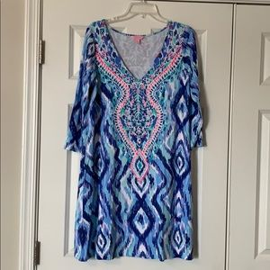 Lilly Pulitzer Ophelia Blue Swish Skipped A Beach